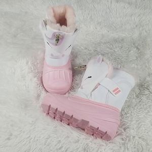Cat & Jack Toddler Girls Unicorn Snow Boots